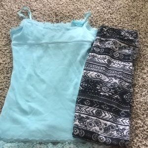 Like New Girls Tank & Leggings Size 12 Justice Lot